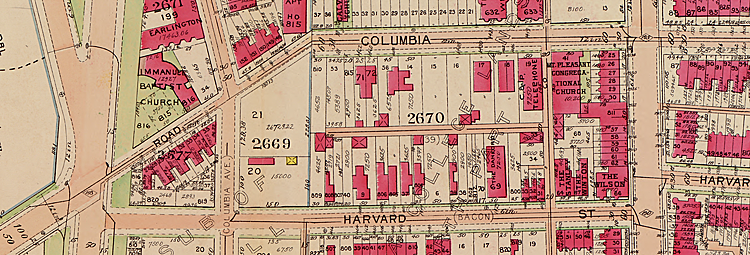 Map from 1911 Street Atlas